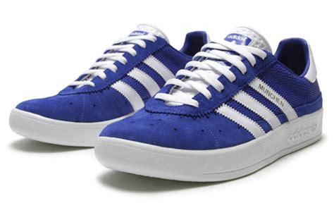 Sepatu Adidas Munchen Suede adidas originals muenchen quot true blue quot sneakers addict