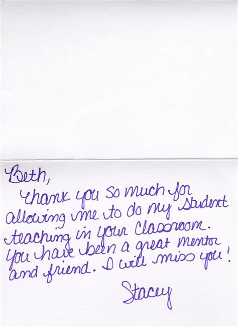 Thank You Letter To Student Collaborative Professional Beth Mittelman M Ed Portfolio
