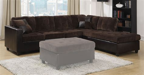 Coaster Mallory Sectional Sofa Chocolate 505645 At Coaster Sectional Sofa