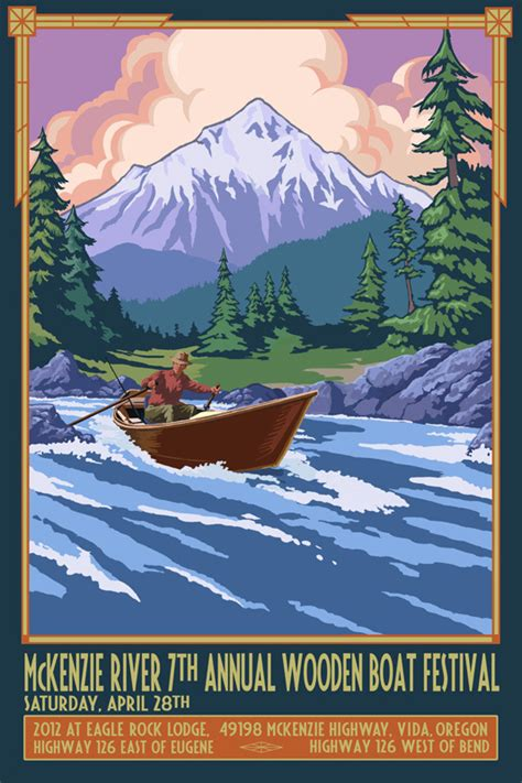 mackenzie river boat mckenzie river wooden boat show poster wooden boat people