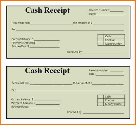 free printable receipt template word 7 printable receipts expense report