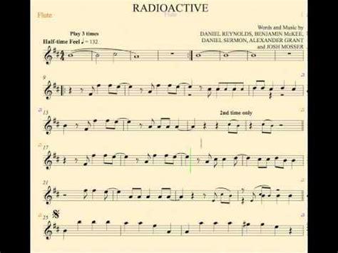 flute theme ringtone radioactive imagine dragons flute sheet music