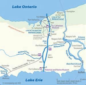 lake erie canada map welland canal