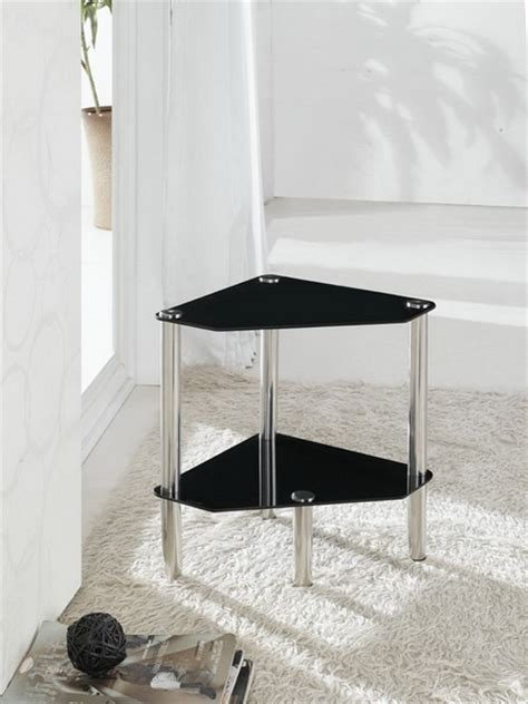 Bathroom Table Stand by 2 Tier Triangle Glass Stand Coffee Table Bathroom Black