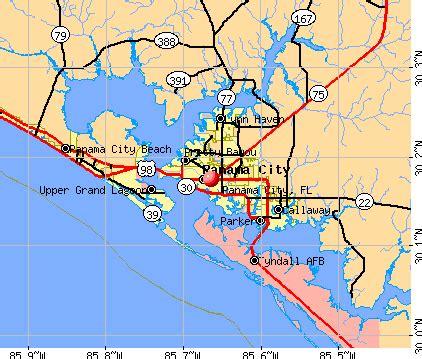 map of florida showing panama city panama city florida fl 32401 profile population maps