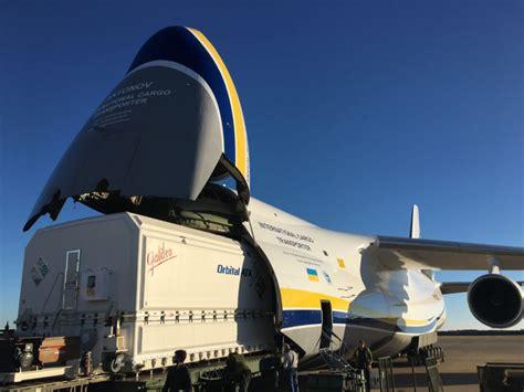 antonovs usa office transports satellite  french guiana