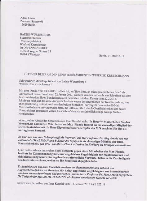 Anschreiben Bewerbung Richter offener brief an den ministerpr 196 sidenten winnfried kretshmann im l 228 ndle lebt ein top spion des