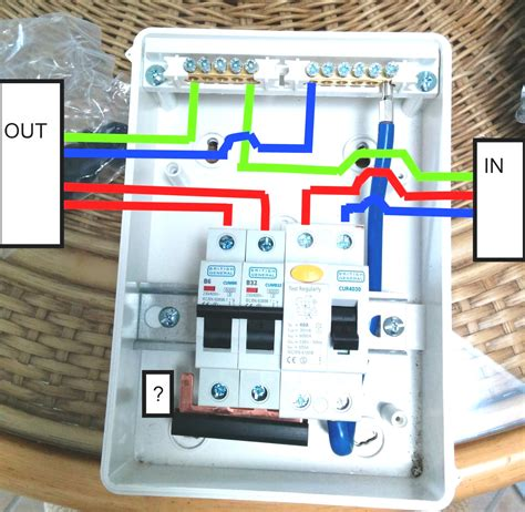 wiring diagram for a garage consumer unit wiring diagram