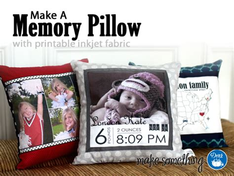 pillow marvelous memory pillow picture ideas memory easy crafts make a memory pillow with dritz inkjet fabric