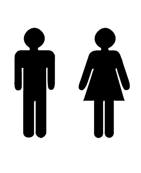 bathroom sign person bathroom sign people clipart best