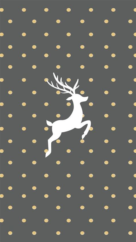 wallpaper grey and gold gold and grey reindeer wallpaper for iphone pictures