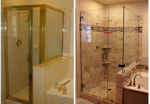 Bathroom Remodel Ideas Before And After Master Bathroom Update The Shower Is Done The Kim Six Fix