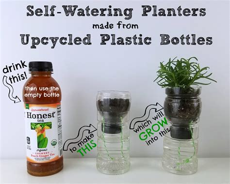 Plastic Bottle Self Watering Planter by Self Watering Herb Planters Made From Upcycled Plastic Bottles