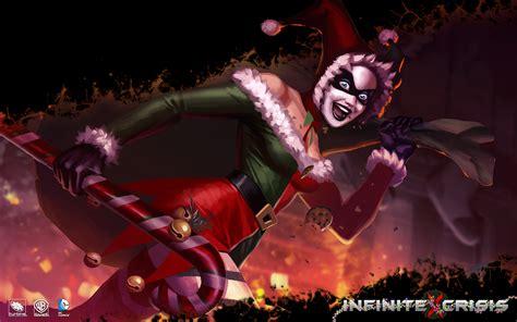 psp themes joker wallpaper infinite crisis harley quinn christmas