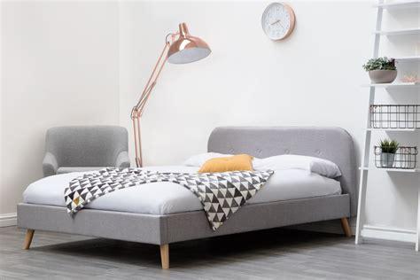 woburn grey fabric bed frame doubleking size sleep design