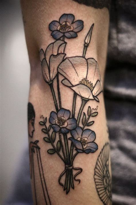 bouquet tattoo 25 best ideas about flower bouquet on