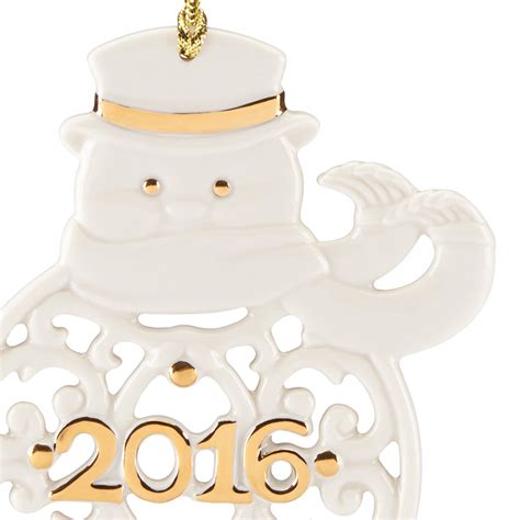 a year to remember lenox christmas ornament 2016 snowman