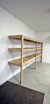 easy shelves to make white easy and fast diy garage or basement shelving