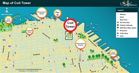 san francisco map coit tower where is coit tower located in san francisco map