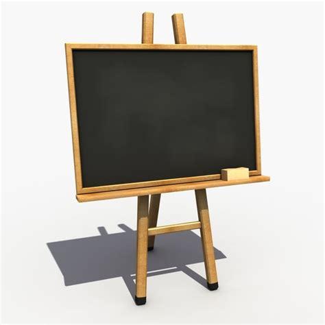 blackboard stand 3d blackboard modeled