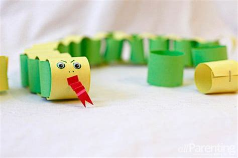 Paper Crafts For 3 Year Olds - new year paper chain snake craft activities for