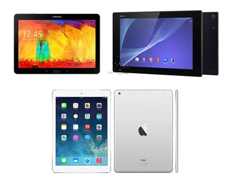 Tablet Sony Dan Samsung sony xperia z2 tablet vs air vs samsung galaxy note 10 1 2014 the weigh in stuff
