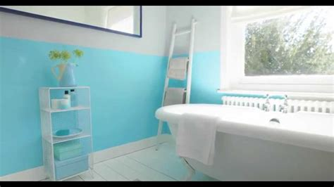 All White Bathroom Ideas by Bathroom Ideas Using Aquamarine Blue Dulux Youtube