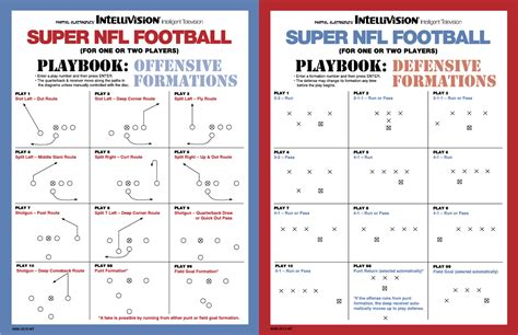 the superpower playbook books looking for nfl football manual intellivision
