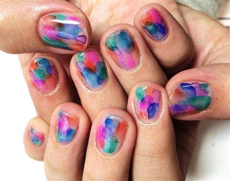 water color nails 30 idea water color nails เพ นท เล บง ายๆ คล ายๆ ทาส น ำ