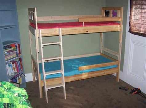 bedroom interesting unfinished ikea bunk bed design with