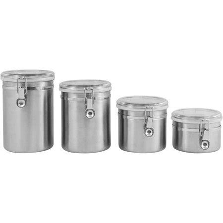 walmart kitchen canister sets ragalta 4 stainless steel canister set walmart