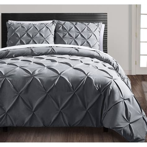 Comforter Cover Set Beautiful Modern Contemporary Ruffled Textured Ruched
