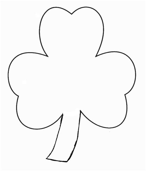 shamrock templates printable st patricks day crafts print your finger paint shamrock
