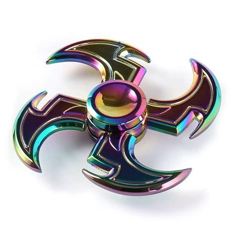 fidget spinner colorful 7 7 1 5cm axe shape rainbow fidget spinner rosegal