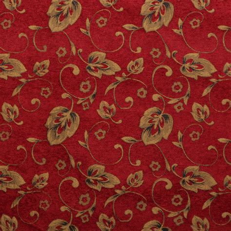 Floral Upholstery Fabric by Floral Chenille Vines Vintage Traditional Jacquard