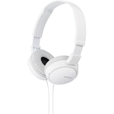 Headphone Mdr Zx110 sony mdr zx110 stereo headphones white mdrzx110 whi b h photo