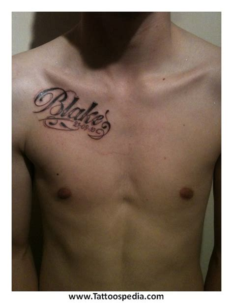 tattoos for men with names chest tattoos