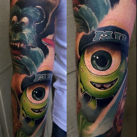 monsters inc tattoo artists en instagram awesome color in this