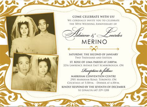 golden wedding anniversary invitation templates anniversary invitation templates 28 free psd vector