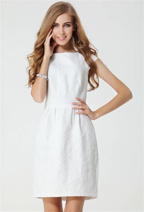 Robe Blanche Courte Femme - robe fourreau blanche courte droite