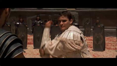 gladiator film fight scene gladiator commodus death scene movie scenes movie