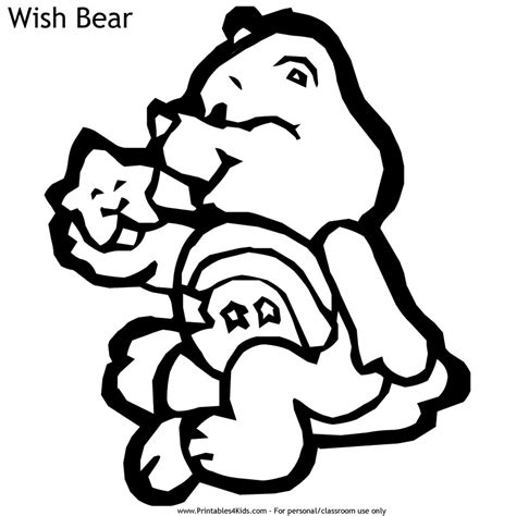 wish bear coloring pages free wish bear coloring pages