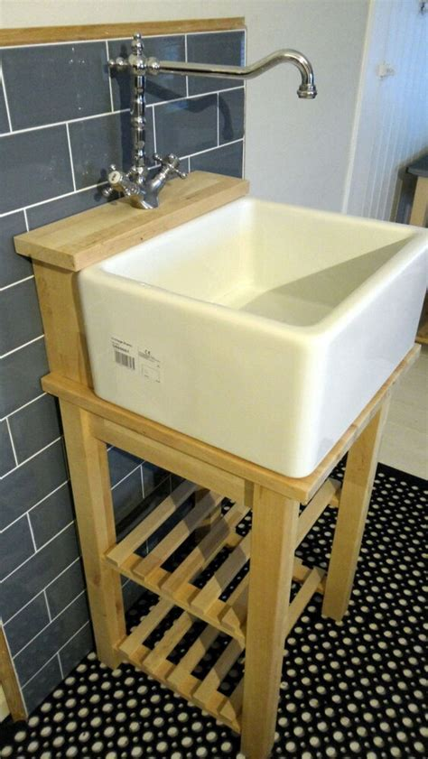 Belfast / Baby Belfast Sink Stand Unit, Oak Tap Ledge