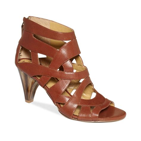 nine west sandals nine west curri wedge sandals in brown black lyst