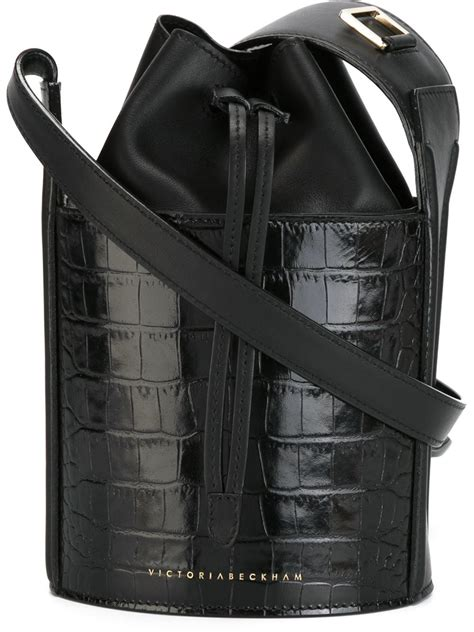 Bag Bveckham lyst beckham mini crocodile effect bag in black