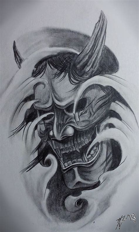 japanese hannya tattoo designs hannya mask traditional classic by jackcoffins