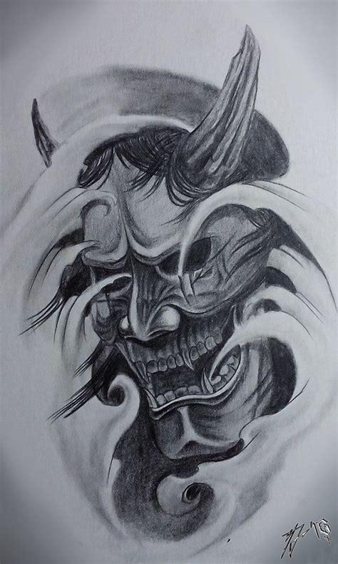 hannya mask tattoo designs hannya mask traditional classic by jackcoffins