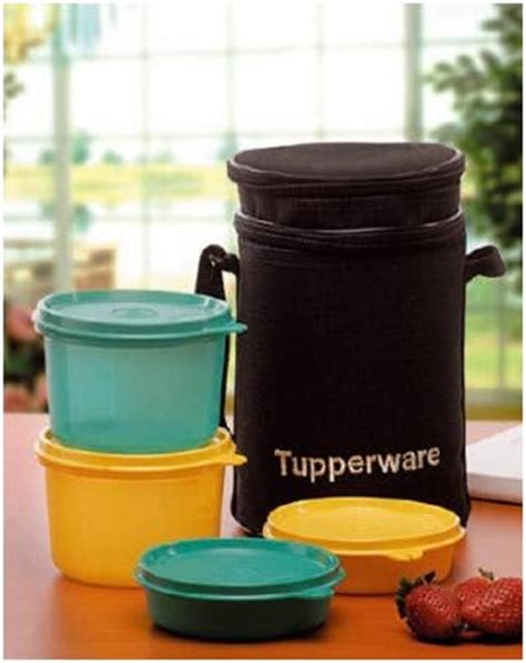 Tupperware Square Away Tumbler Biru tupperware store lunch box