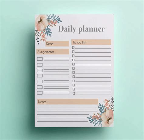 day to day planner template free 6 printable day planner templates free word excel pdf