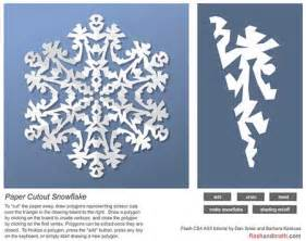 Make Your Own Snowflake Out Of Paper - make your own snowflake cut out polygons from
